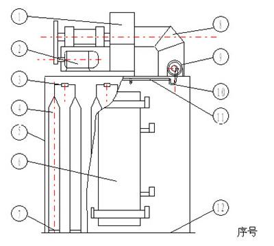 【单机布袋除尘器结构图】